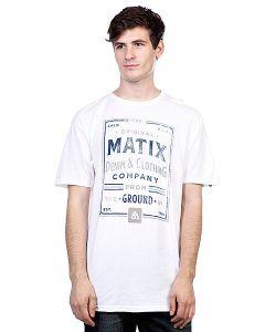 Matix | Футболка Washed And Dyed T-Shirt White