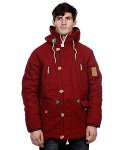 Truespin   Куртка Парка True Spin Alaska Jacket Burgundy/Native
