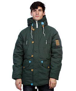 Truespin | Куртка Парка True Spin Alaska Jacket Hunter Green/Leopard