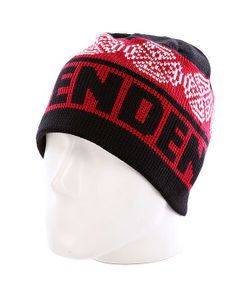 Independent | Шапка Woven Crosses Beanie Red/Black/White