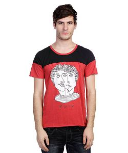 Your Eyes Lie | Майка Tshirt With Contrast Panel Red/Black
