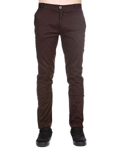 Enjoi | Штаны Узкие Boo Khaki Slim Straight Dark Brown