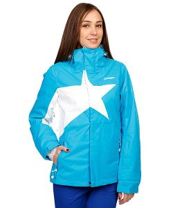 Zimtstern | Куртка Женская Snow Jacket Snowy Women Blue/White