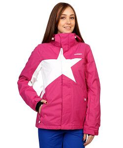Zimtstern | Куртка Женская Snow Jacket Snowy Women Fuchsia/White