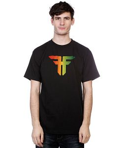 Fallen | Футболка Trademark S/S Black/Rasta Fade
