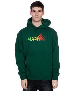 Cliche | Кенгуру Handwritten Gradient Pullover Dark Green/Rasta