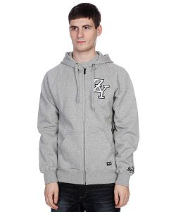 Zoo York | Толстовка Zip Zy Hoody Lt Grey Heather