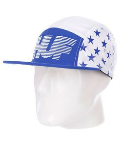 Huf | Бейсболка Пятипанелька Hell Track Volley White/Blue