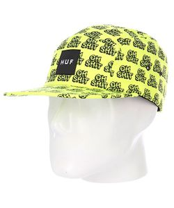 Huf | Бейсболка Пятипанелька Oh Shit Volley Yellow/Black