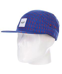 Huf | Бейсболка Пятипанелька Thunder Bolt Box Volley Blue/Red