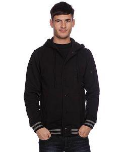 Huf | Куртка Бомбер Campus Snap Front Premium Hoodie Black
