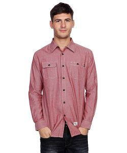 Huf | Рубашка Marshall Chambray L/S Shirt Brick
