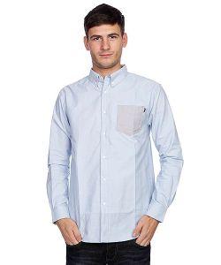 Huf | Рубашка Rushmore Oxford L/S Shirt Blue