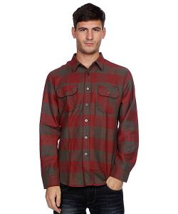 Huf | Рубашка В Клетку Thompson Buffalo Flannel Dusty Olive/Maroon