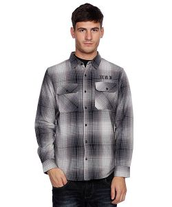 Huf | Рубашка Утепленная Alameda Quilted Premium Flannel Black/Charcoal