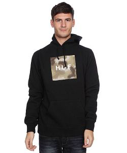 Huf | Кенгуру Box Logo Fill Spray Camo Pullover Black