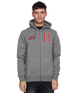 Huf | Толстовка Usa Dbc Zip Up Premium Hood Gray Heather