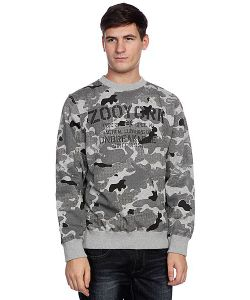 Zoo York | Толстовка Классическая Stencil Kit Crew Washed Black Camo