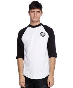 Santa Cruz | Лонгслив Other Dot Raglan White/Black/Silver