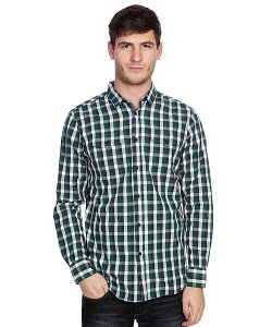 Globe | Рубашка В Клетку Attfield Shirt Fern Green