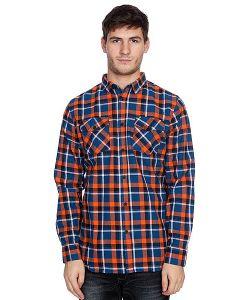 Globe | Рубашка В Клетку Corsair Shirt Blue/Orange