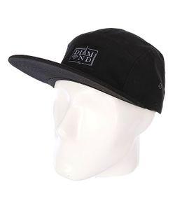 Diamond | Бейсболка Пятипанелька Paris 5 Panel Camp Hat Black