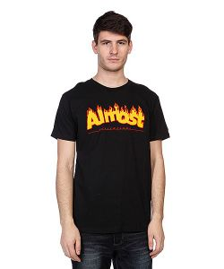 Almost | Футболка Flaming Logo Black