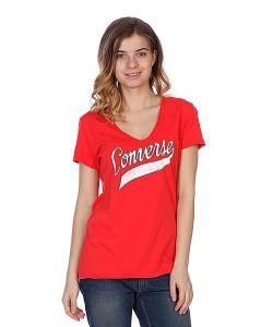 Converse | Футболка Женская Script Logo Red