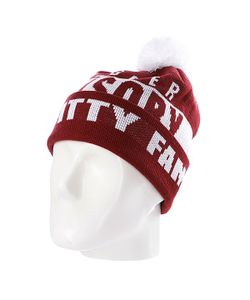 Flat Fitty | Шапка С Помпоном Swagger Fam Maroon/White