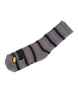 Toy Machine   Носки Средние Monster Stripe Grey/Tan