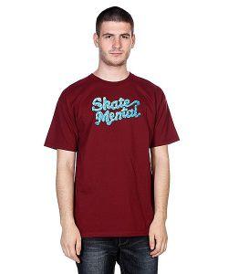 Skate Mental | Футболка Icing Logo Burgundy