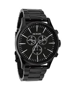 Nixon | Часы Sentry Chrono All Black