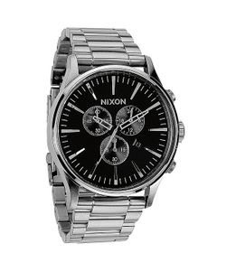 Nixon | Часы Sentry Chrono Black