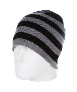 Urban Classics | Шапка 2 Stripe Beanie Black/Grey