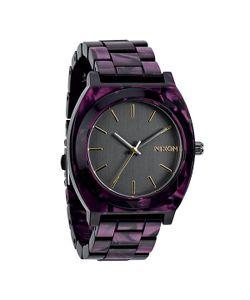 Nixon | Часы Time Teller Acetate Gunmetal/Velvet