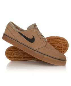 Nike | Кеды Кроссовки Низкие Zoom Stefan Janoski Khaki/Black Gum/Light Brown