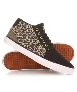 Dcshoes   Кеды Кроссовки Высокие Женские Dc Council Mid Sp Leopard Print
