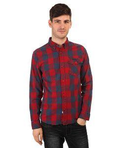 The Hundreds | Рубашка В Клетку Ridge Long Sleeve Woven Red