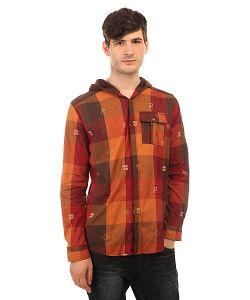 Insight | Рубашка В Клетку Hipocrisy Hood Fossil Brown