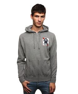 Fallen | Толстовка Ribbon Hood Heather Grey/Red