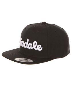 Andale | Бейсболка С Прямым Козырьком Script Snap Back Black
