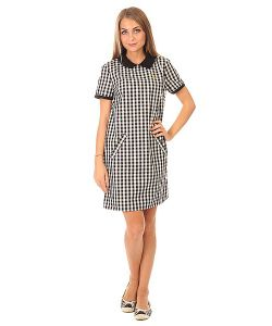 Fred Perry | Платье Женское A Line Gingham Dress White/Black