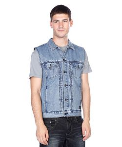 Globe | Жилет Goodstock Denim Vest Stone Wash