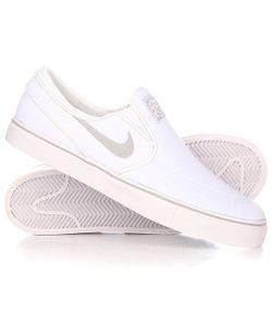 Nike | Слипоны Sb Zoom Stefan Janoski Slip Cnvs White/Wolf Grey-White
