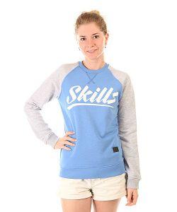 Skills | Толстовка Свитшот Женская Script Logo 4 Crewneck Blue/Grey Melange