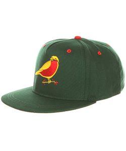 Запорожец | Бейсболка С Прямым Козырьком Птичка Green