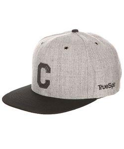 Truespin | Бейсболка С Прямым Козырьком Abc Snapback Dark Grey/Black Leather-C