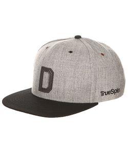 Truespin | Бейсболка С Прямым Козырьком Abc Snapback Dark Grey/Black Leather-D