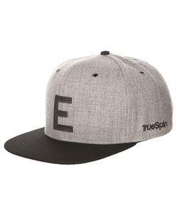 Truespin | Бейсболка С Прямым Козырьком Abc Snapback Dark Grey/Black Leather-E