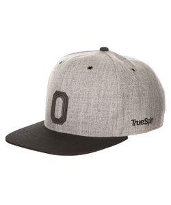 Truespin | Бейсболка С Прямым Козырьком Abc Snapback Dark Grey/Black Leather-O